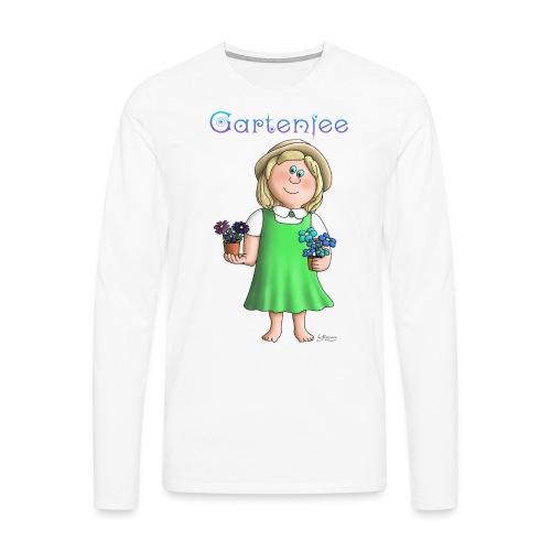 Süßes Garten Mädchen - Gartenfee - Männer Premium Langarmshirt