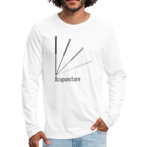 Acupuncture Eventail (logo noir) - T-shirt manches longues Premium Homme