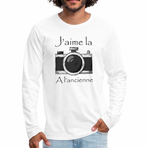 J'aime la Photo à L'ancienne - T-shirt manches longues Premium Homme