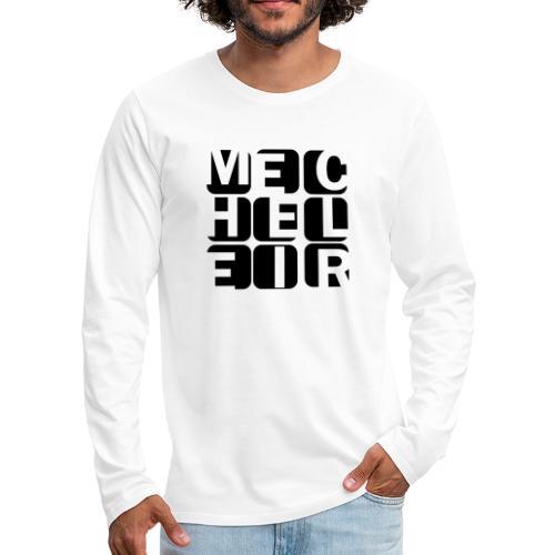 Mecheleir Cubes - Mannen Premium shirt met lange mouwen