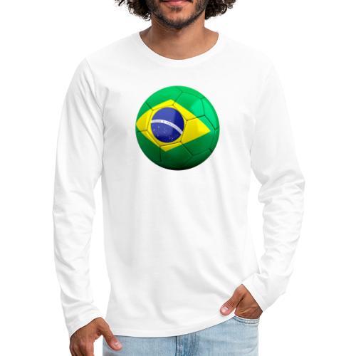 Bola de futebol brasil - Men's Premium Longsleeve Shirt