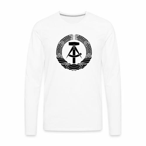 DDR Wappen (schwarz) - Men's Premium Longsleeve Shirt