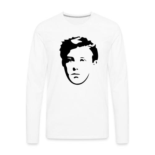 Arthur Rimbaud visage - T-shirt manches longues Premium Homme