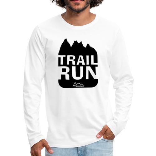 Trail Run - Männer Premium Langarmshirt