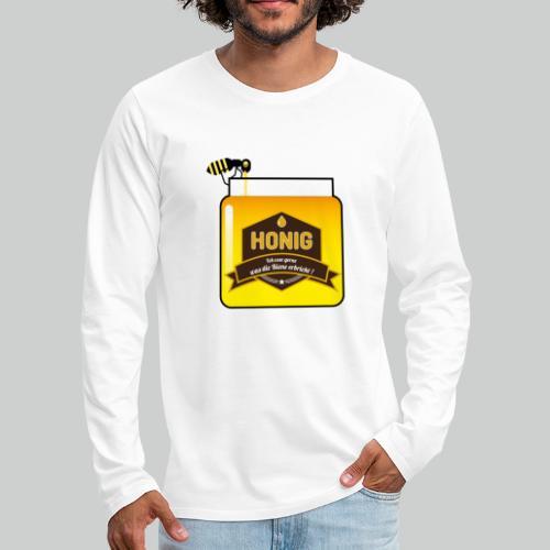 Honig ist lecker - Männer Premium Langarmshirt