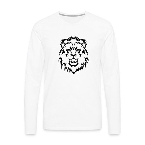 Karavaan Lion Black - Mannen Premium shirt met lange mouwen