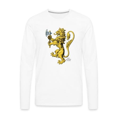 Den norske løve i gammel versjon - Premium langermet T-skjorte for menn