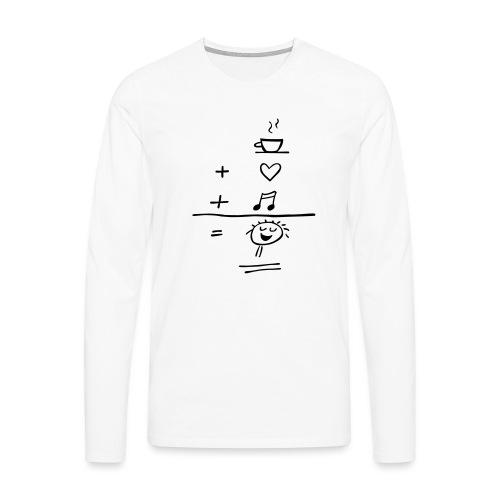 Happiness - Männer Premium Langarmshirt