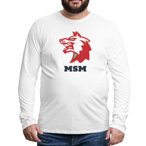 MSM WOLF - Herre premium T-shirt med lange ærmer