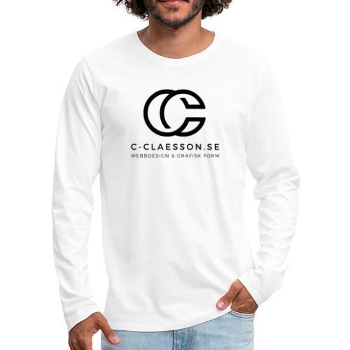C-Claesson Webbdesign - Långärmad premium-T-shirt herr