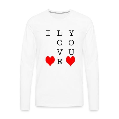I Love You - Men's Premium Longsleeve Shirt