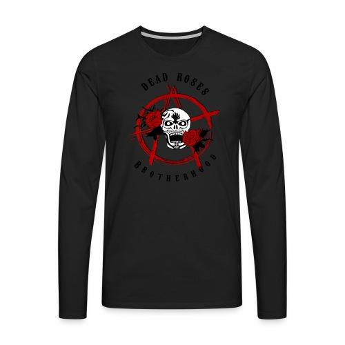 Dead Roses Anarchy Skull Black - Men's Premium Longsleeve Shirt
