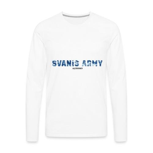 SVANIS ARMY (ALEXSVANIS SVART TEXT) - Långärmad premium-T-shirt herr