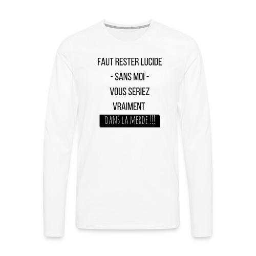 Je suis indispensable !!! - T-shirt manches longues Premium Homme