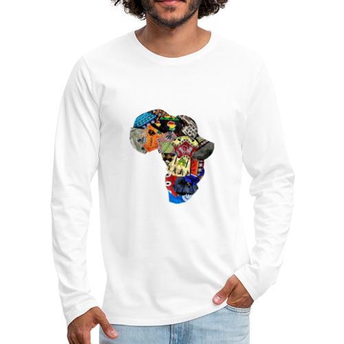 Afrique en Wax (Impression) - T-shirt manches longues Premium Homme