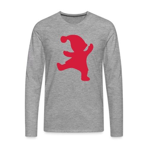Santas helper - Miesten premium pitkähihainen t-paita