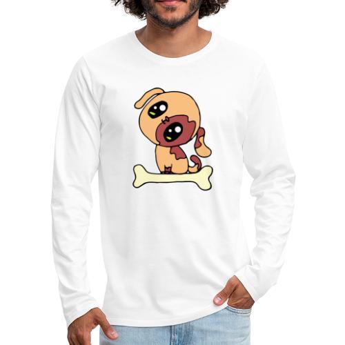 Kawaii le chien mignon - T-shirt manches longues Premium Homme