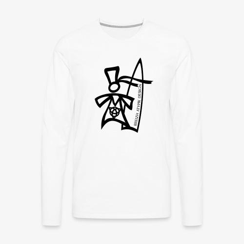 Surf Bigoud Black - T-shirt manches longues Premium Homme