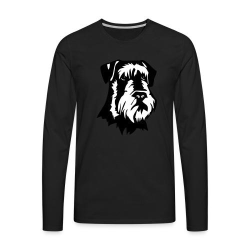Riesensnautzer head - Miesten premium pitkähihainen t-paita