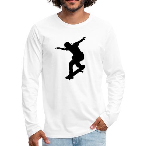 Skater - Maglietta Premium a manica lunga da uomo