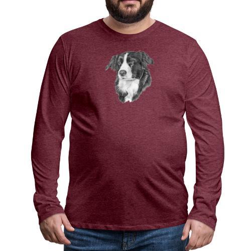 border collie 1 - Herre premium T-shirt med lange ærmer