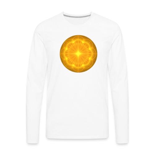 Golden Radiance Mandala Heart - Mannen Premium shirt met lange mouwen