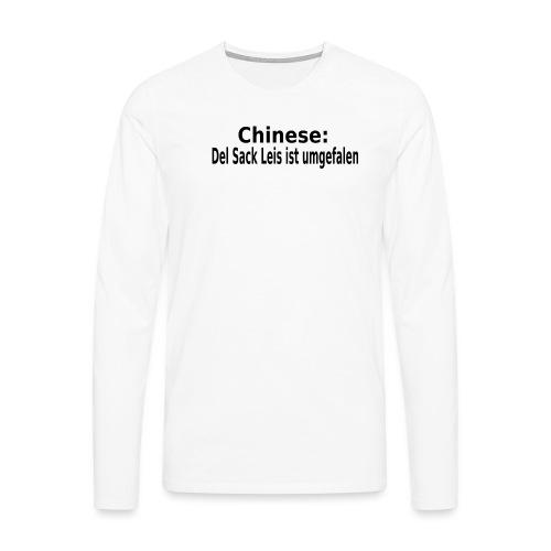 Sack Reis umgefallen - Männer Premium Langarmshirt