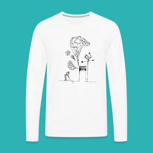 Carta_gatta-png - Maglietta Premium a manica lunga da uomo