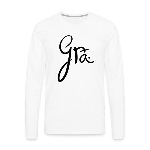 logo-trans-ai - Mannen Premium shirt met lange mouwen