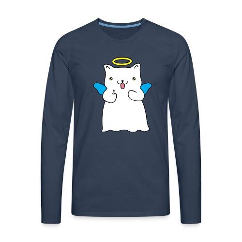 gatto - Maglietta Premium a manica lunga da uomo