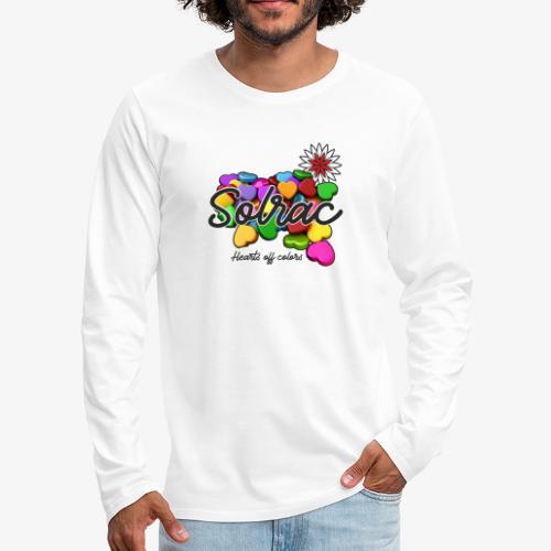 SOLRAC Hearts White - Camiseta de manga larga premium hombre