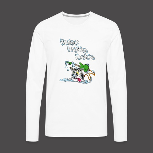 Wicked Washing Machine Cartoon and Logo - Mannen Premium shirt met lange mouwen
