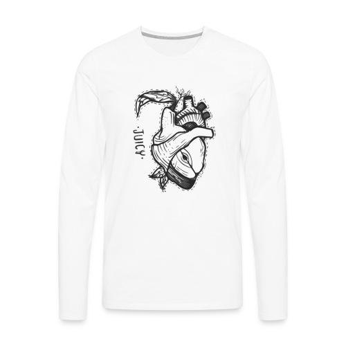 Apple Heart B - Camiseta de manga larga premium hombre