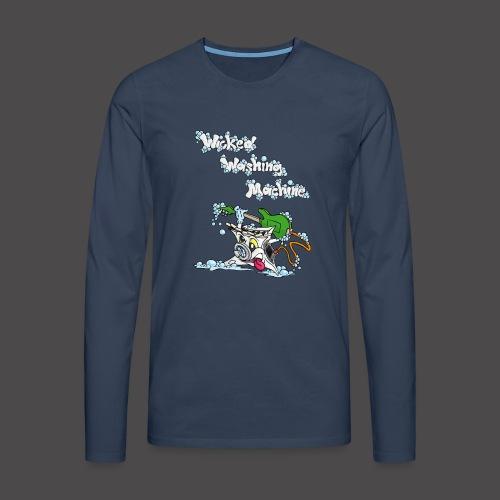 Wicked Washing Machine Cartoon and Logo - Mannen Premium shirt met lange mouwen