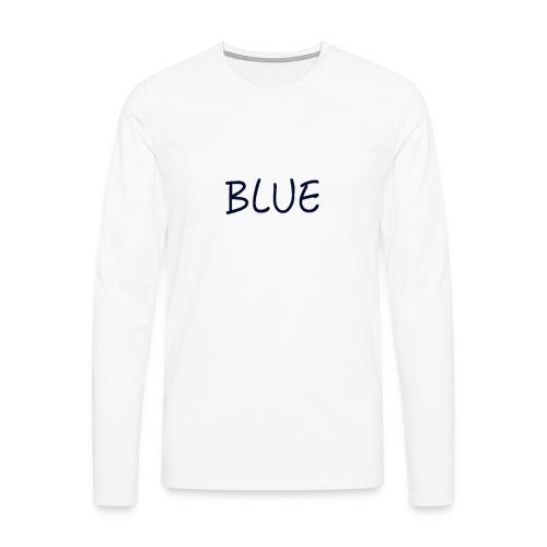 BLUE - Mannen Premium shirt met lange mouwen
