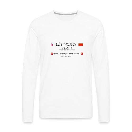 Lhotse Mountain - Maglietta Premium a manica lunga da uomo