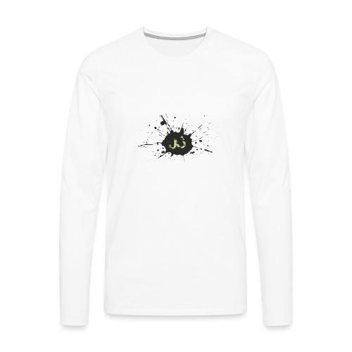 JU spray logo - Miesten premium pitkähihainen t-paita