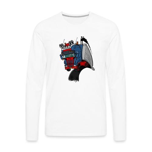 The flying skane man notext - Mannen Premium shirt met lange mouwen