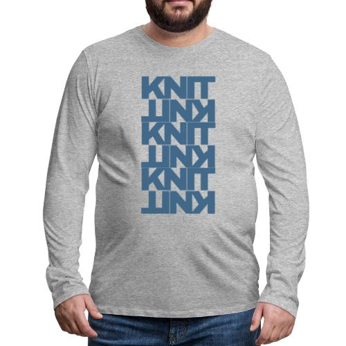Garter Stitch, dark - Men's Premium Longsleeve Shirt