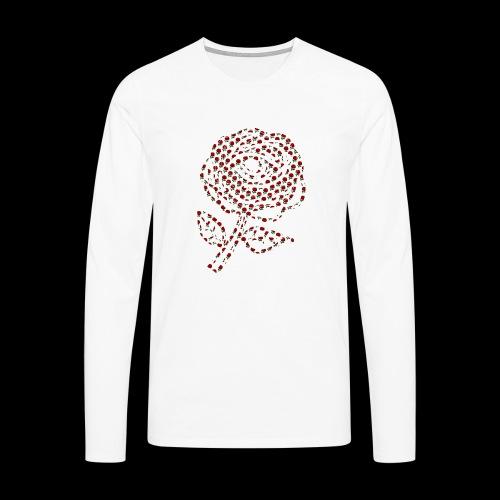 Rose aus Rosen - Männer Premium Langarmshirt