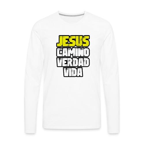 Jesus Camino Verdad Vida - Juan 14:6 - Camiseta de manga larga premium hombre