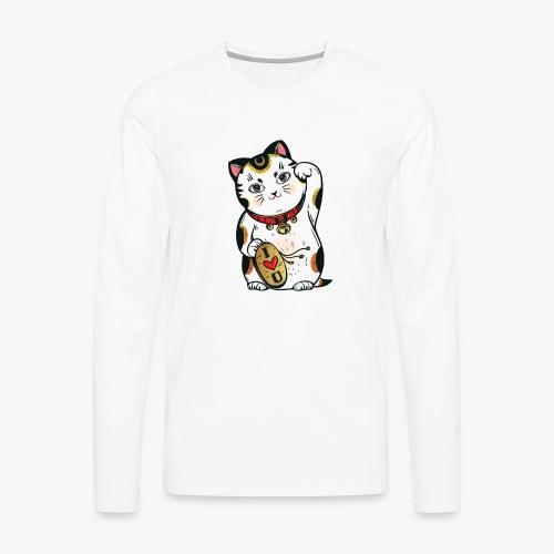Love Lucky Cat - Men's Premium Longsleeve Shirt