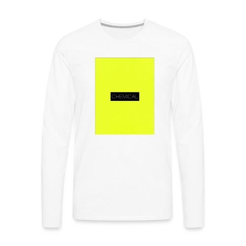 Yellow fluo - Maglietta Premium a manica lunga da uomo