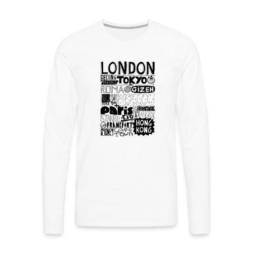 Villes du monde - T-shirt manches longues Premium Homme