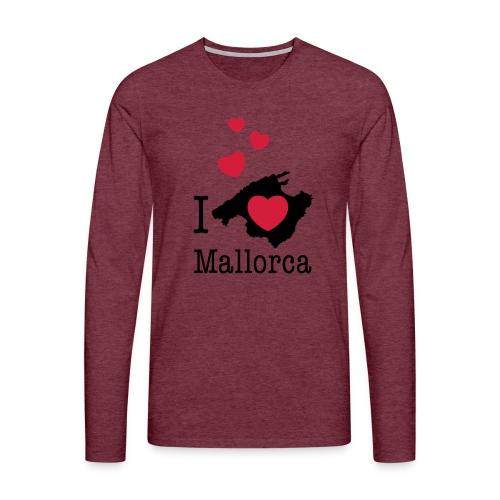 love Mallorca Balearen Spanien Ferieninsel Urlaub - Men's Premium Longsleeve Shirt