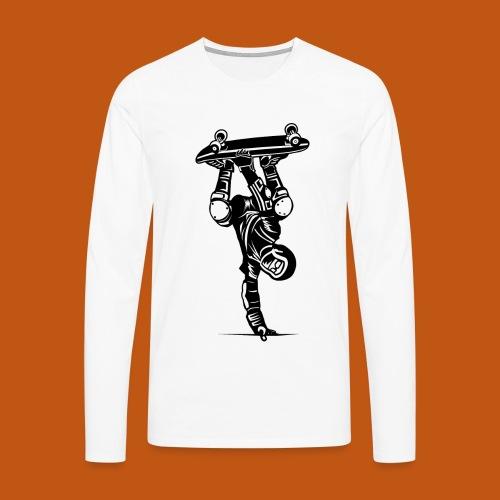 Skater / Skateboarder 02_schwarz - Männer Premium Langarmshirt