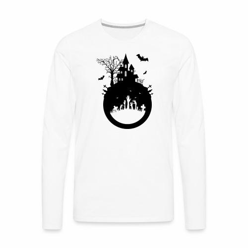 Haunted House - Halloween Design - Männer Premium Langarmshirt