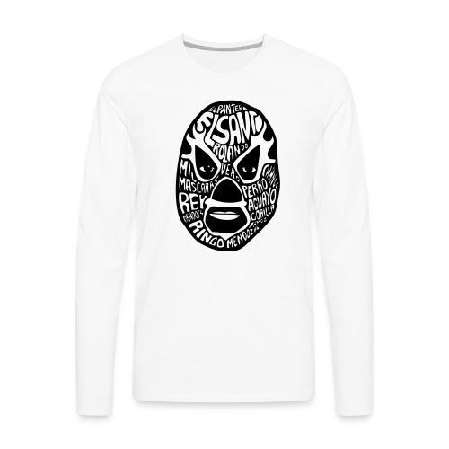 luchador mask2 - Mannen Premium shirt met lange mouwen