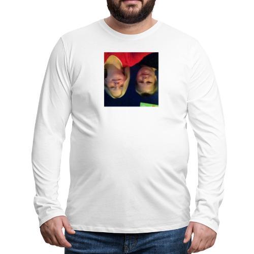 Gammelt logo - Herre premium T-shirt med lange ærmer