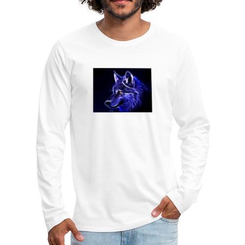 jeff wolf - Premium langermet T-skjorte for menn